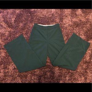 Chelsea28 green wide legged trousers-size 0.